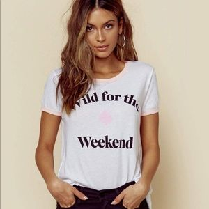 Wildfox Wild for The Weekend Johnny Ringer Tee